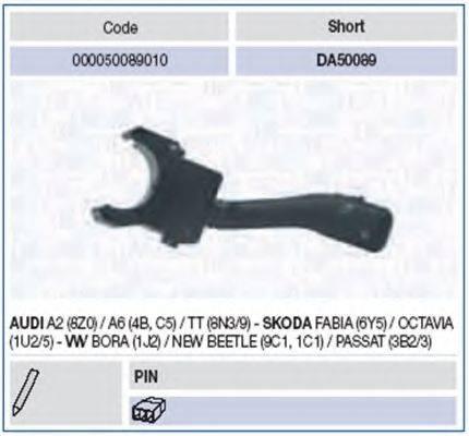 MAGNETI MARELLI 000050089010 Выключатель на колонке рулевого управления