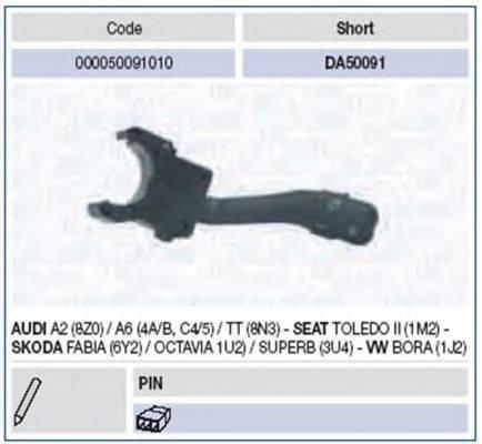 MAGNETI MARELLI 000050091010 Выключатель на колонке рулевого управления