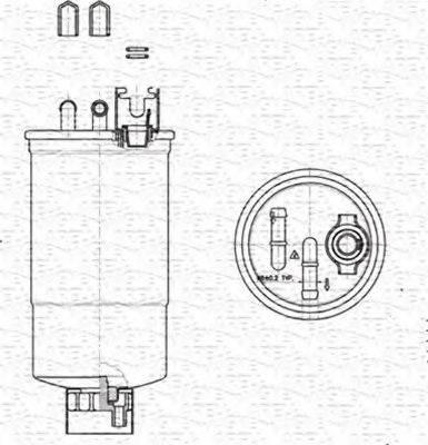 MAGNETI MARELLI 213908548000 Топливный фильтр