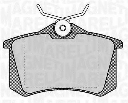 MAGNETI MARELLI 363916060131 Комплект тормозных колодок, дисковый тормоз