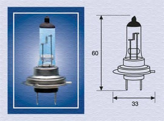 MAGNETI MARELLI 002557100000 Лампа накаливания, фара дальнего света; Лампа накаливания, основная фара; Лампа накаливания, противотуманная фара; Лампа накаливания