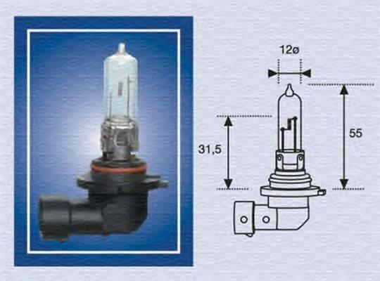MAGNETI MARELLI 002577200000 Лампа накаливания, фара дальнего света; Лампа накаливания, основная фара; Лампа накаливания
