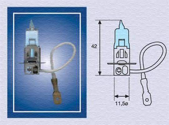 MAGNETI MARELLI 002604100000 Лампа накаливания, противотуманная фара; Лампа накаливания