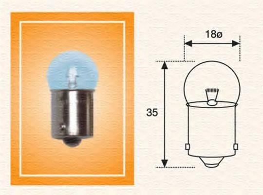 MAGNETI MARELLI 004009100000 Лампа накаливания, фонарь освещения номерного знака; Лампа накаливания, задний гарабитный огонь; Лампа накаливания, oсвещение салона; Лампа накаливания