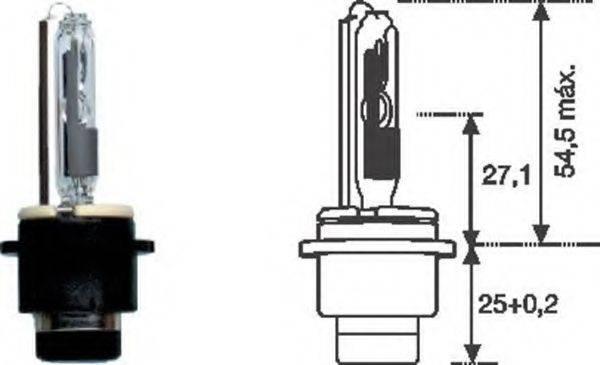 MAGNETI MARELLI 002542100000 Лампа накаливания, фара дальнего света; Лампа накаливания, основная фара; Лампа накаливания