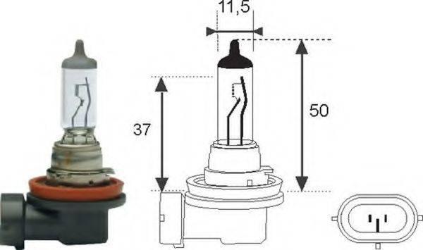 MAGNETI MARELLI 002549100000 Лампа накаливания, фара дальнего света; Лампа накаливания, основная фара; Лампа накаливания