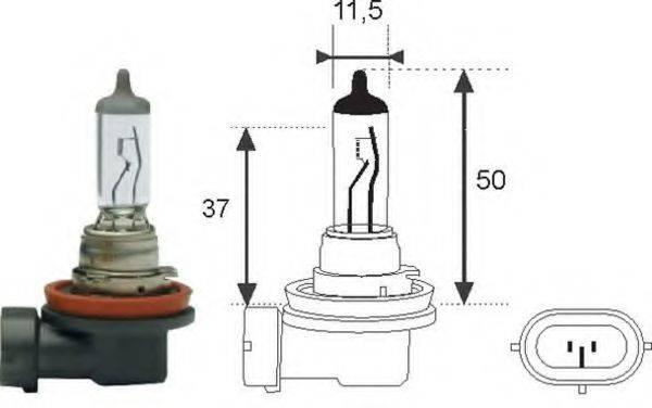 MAGNETI MARELLI 002547100000 Лампа накаливания, фара дальнего света; Лампа накаливания, основная фара; Лампа накаливания