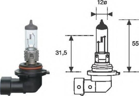 MAGNETI MARELLI 002577300000 Лампа накаливания, фара дальнего света; Лампа накаливания, основная фара; Лампа накаливания