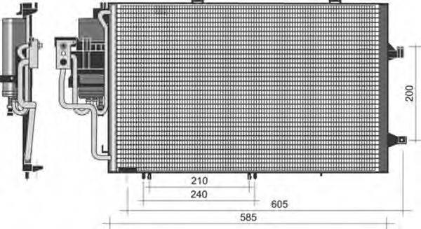 MAGNETI MARELLI 350203351000 Конденсатор, кондиционер