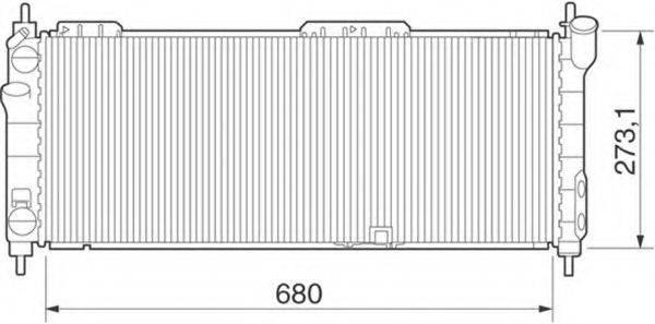 MAGNETI MARELLI 350213275000 Радиатор, охлаждение двигателя