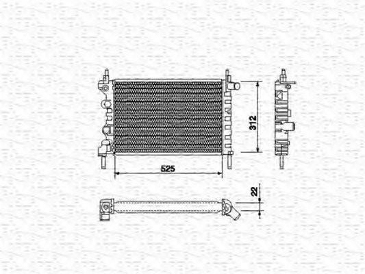 MAGNETI MARELLI 350213684000 Радиатор, охлаждение двигателя