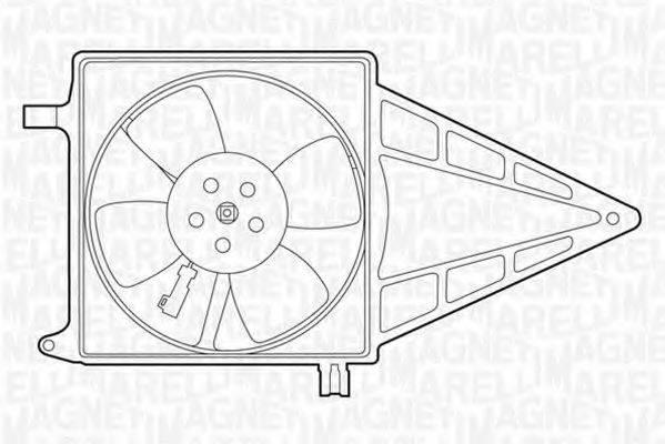 MAGNETI MARELLI 069422211010 Вентилятор, охлаждение двигателя